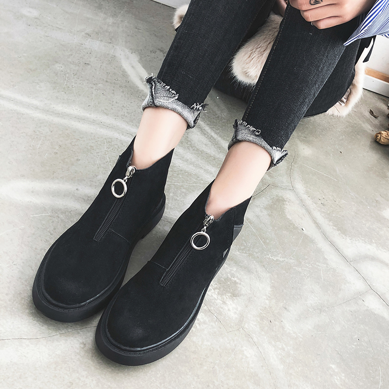 Martin Negro Zapatos Nuevas Negro Tobillo Primavera 2019 De Y Mujer Moda khaki Niña Señora Botas Cremallera Otoño Rxqfv
