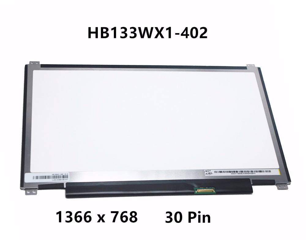 Original New 13.3 Laptop LED eDP LCD Screen Panel Matrix Replacement HB133WX1-402 Display For Asus Q302L Chromebook C300 30 PIN new 14 0 slim lcd screen display panel laptop matrix replacement n140hce en1 30 pins edp ips high gamut wuxga fhd 1920x1080