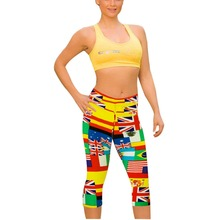 Brand Women 3d Print Plus Size Capris Leggings Sport Fitness font b Pants b font Outdoor
