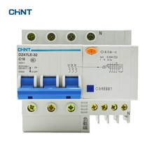 цена на CHINT DZ47LE Earth Leakage 16A Mini Circuit Breaker DZ47LE-32 3P+N C16