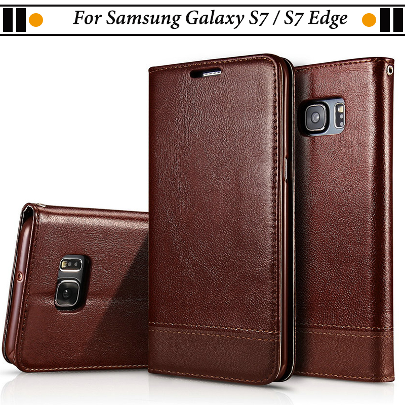 JURCHEN Phone Case For Samsung Galaxy S7 Edge Case Silicone Wallet Leather Flip Cover For Samsung Galaxy S7 Coque Luxury S7Edge