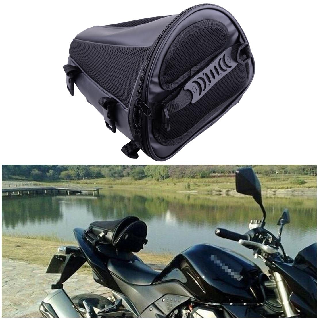 Citall Moto Dirt Bike Doppio Sport Nero Impermeabile In Microfibra Coda Bag Sedile Posteriore Di Immagazzinaggio Trasporta A Mano Spalla Borse Laterali