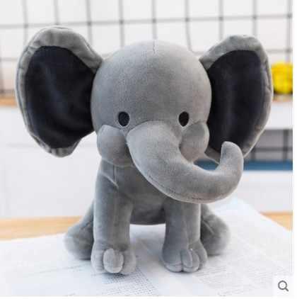 شحن مجاني 25 سنتيمتر ألعاب فخمة لطيفة الفيل النوم الطفل النوم لينة محشوة أفخم لعبة هدية للأطفال