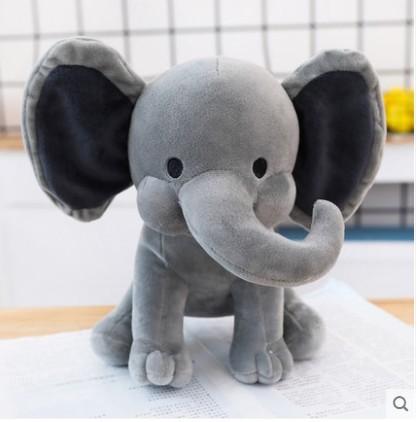 Free shipping 25cm Cute Plush Toys Elephant Bedtime  Baby Sleeping Soft Stuffed Plush toy for childern gift