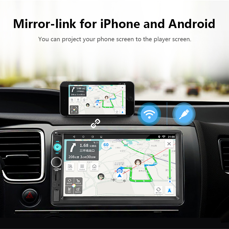 "Image 5 - Jansite 7"" 2din Car Radio Digital player Touch screen Android 8.1 Multimedia player mirror link Autoradio Support Backup camera-in Car Multimedia Player from Automobiles & Motorcycles"