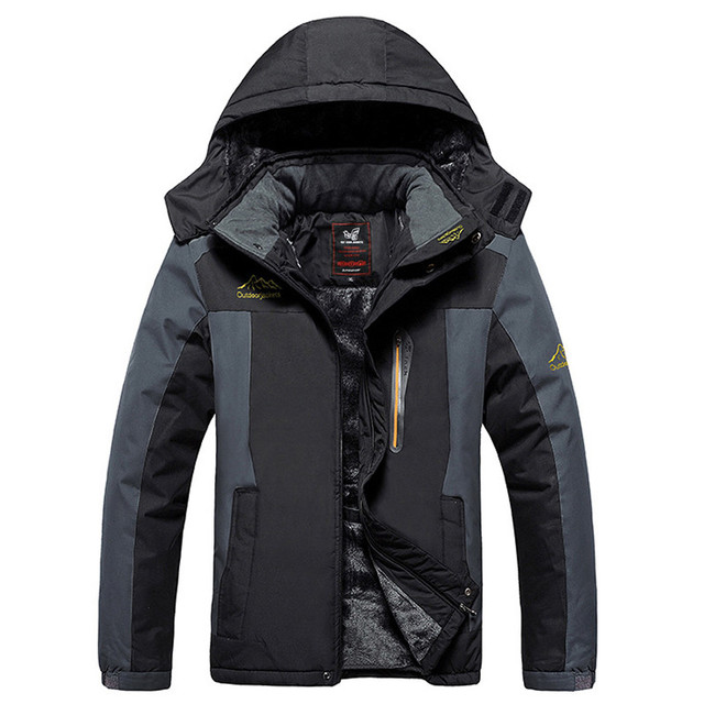New warm Winter coat men plus size 5XL 6XL 7XL 8XL 9XL thicken fleece cotton-padded jacket outwear waterproof windproof coat 828