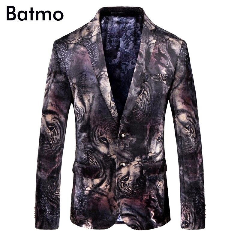 Batmo Occasionnels taille De Screen Arrivée Qualité Plus 9003 Haute 2018 Costumes Hommes Vestes Imprimé Hommes Femmes Tiger Blazers Nouvelle Casual 7qAT7wr