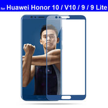 Protective Glass for Huawei Honor 9 10 Lite 9 Full Coverage Tempered Glass Screen Protector for Huawei Honor View 10 V10 Glass цена 2017