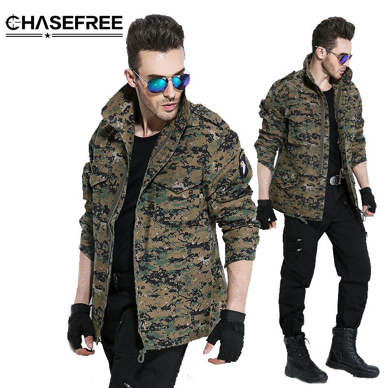 Men Army Camouflage Clothes Military Style Tactical Jackets For Men Pilot Coat Us Army M65 101