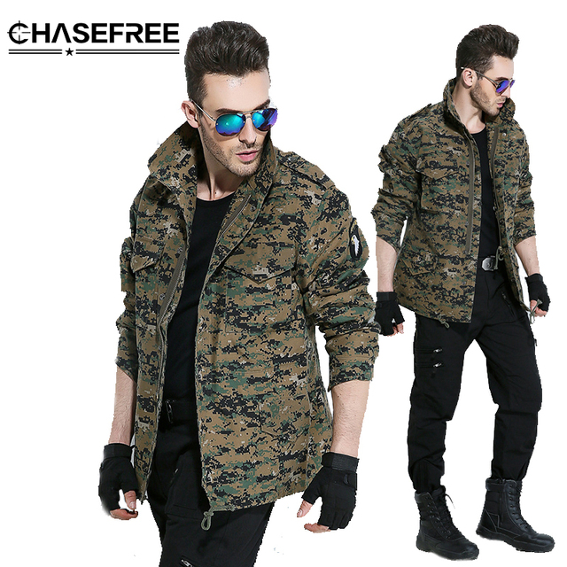 134f663ae0ac3 Men Army Camouflage Clothes Military Style Tactical Jackets For Men Pilot  Coat US Army M65 101 Air Force Bomber Jacket Coat