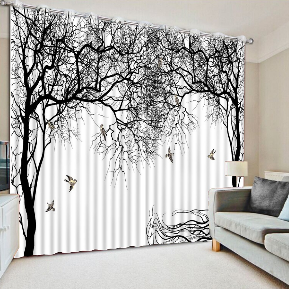 Modern bedroom curtain styles - Fashion Decor Home Decoration For Bedroom Curtain Styles For Bedrooms Abstract Tree Home Decor Modern