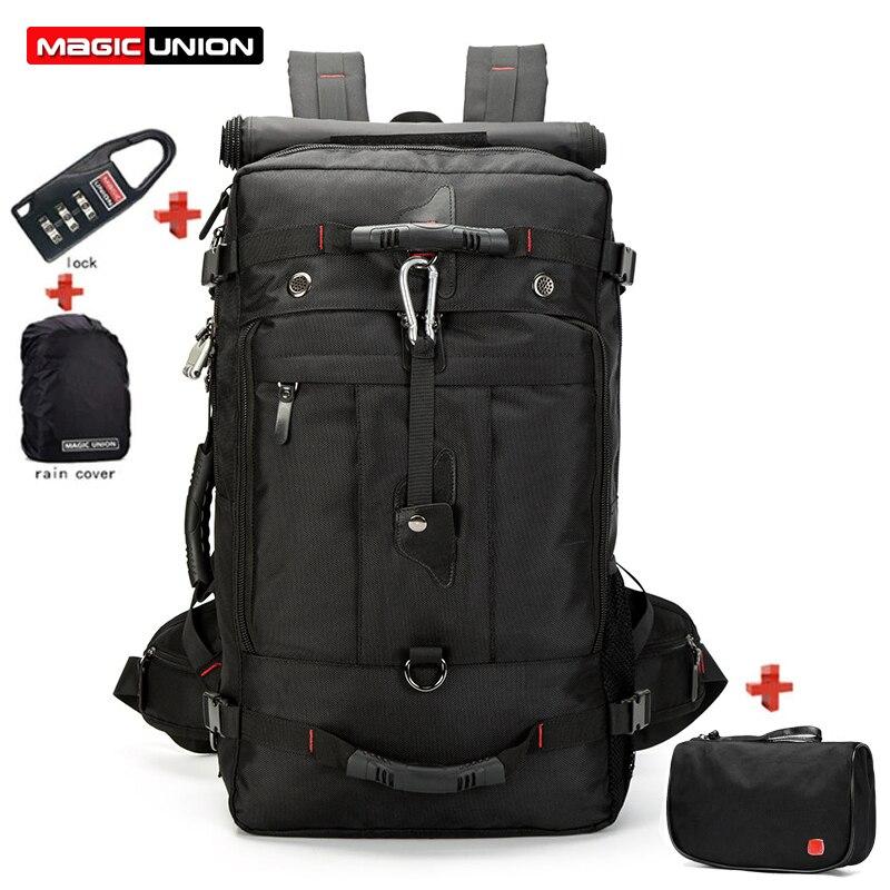 MAGIC UNION 20 inch Men Backpack Clutch Travel Bag Set Large Capacity Mountaineering Multifunctional Waterproof Backpacks