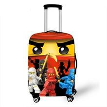 """1""""-32"""" дюймов, Эластичный Защитный чехол для багажа Халка, Железного человека, ниндзя, чехол на колесиках, сумка для пыли, чехол, аксессуары для путешествий с героями мультфильмов"""