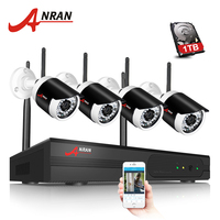 Special Offer ANRAN Plug And Play 720P HD Wireless Kit Outdoor Waterproof IP Camera WIFI Security