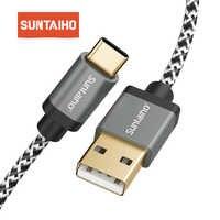 Suntaiho USB C Typ C Kabel 3m 5A schnelle ladung Für Samsung galaxy s9 s10 Sync Kabel für Huawei p10 Pro p30 mi A2 6T Nylon Geflochtene