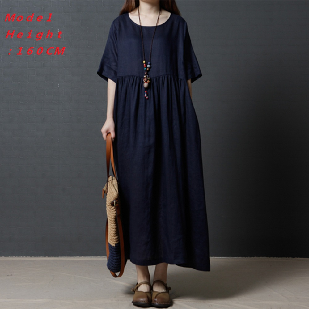 Young17 Vintage Green Dress Women T Shirt Dress 2019 Fashion Plue Size Long Dress Spring Summer Casual Female vestido verde in Dresses from Women 39 s Clothing
