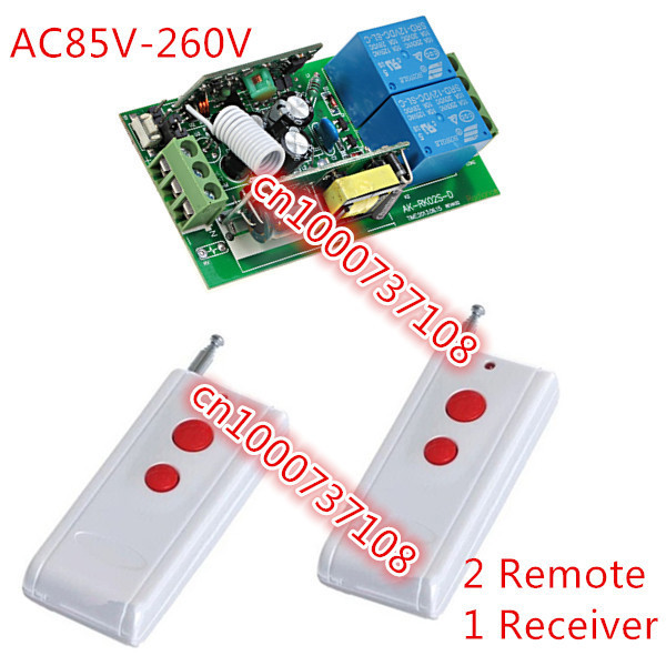 Free shipping wireless remote control AC220V 2CH toggle switch With case learning code 2 LED lamp control switch 2pcs receiver transmitters with 2 dual button remote control wireless remote control switch led light lamp remote on off system