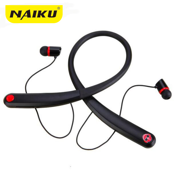 Bluetooth Headsets NAIKU 990 Wireless Magnetic Headphone Neckband Stereo Earphone with M ...