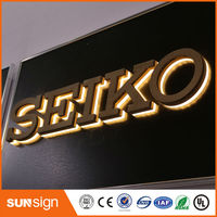 Outdoor Advertising Store Sign LED Illuminated Logo Signs Custom