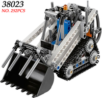 AIBOULLY 38023 252pcs Technic City 2in1 Pedrail Crawler Compact Loader Lele Building Block Compatible 42032 Brick
