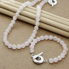 Fashion 8mm Pearl Necklace Bracelet Women 925 Silver TO Round Charm Jewelry Natural Freshwater Pearls Necklace Bracelet Set pearl 8mm chain necklace bracelet 925 silver charm round card women jewelry natural red pearls necklace bracelet jewelry set