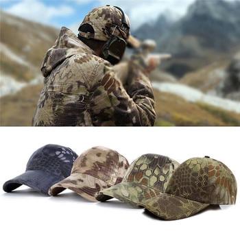 5 colores Fuerzas Especiales táctico ejército gorra de béisbol ajustable  sombrero negro Camo para hombres y mujeres Camping senderismo caza gorras dc6bc75eba3