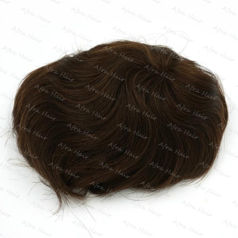 Hair Men Toupee Lace Human Brazilian Hair Replacement Lace Front Wig Laco Grande Para Cabelo Super 8 Top Closure Net H040