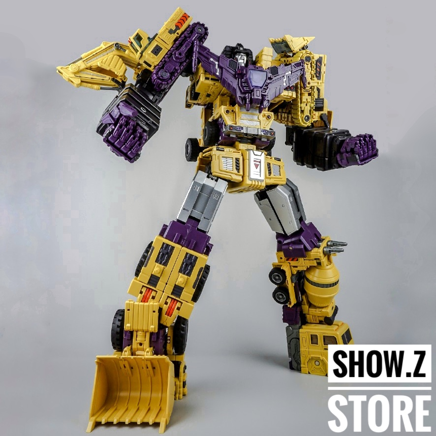 [Show.Z Store] Toyworld TW-C07Y Constructor Yellow Full Set 6 Transformation Action Figure constructor