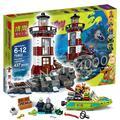 437 шт. Бела 10431 Привидениями Маяк Скуби ду Собака Модель Кирпичи Блоки Детские Игрушки 3D Подарки, Совместимые с Lego