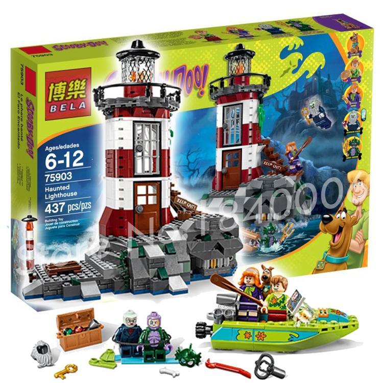 ФОТО 437pcs Bela 10431 Haunted Lighthouse Scooby Doo Dog Model Bricks Blocks 3D Kids Toy Gifts Compatible With lego