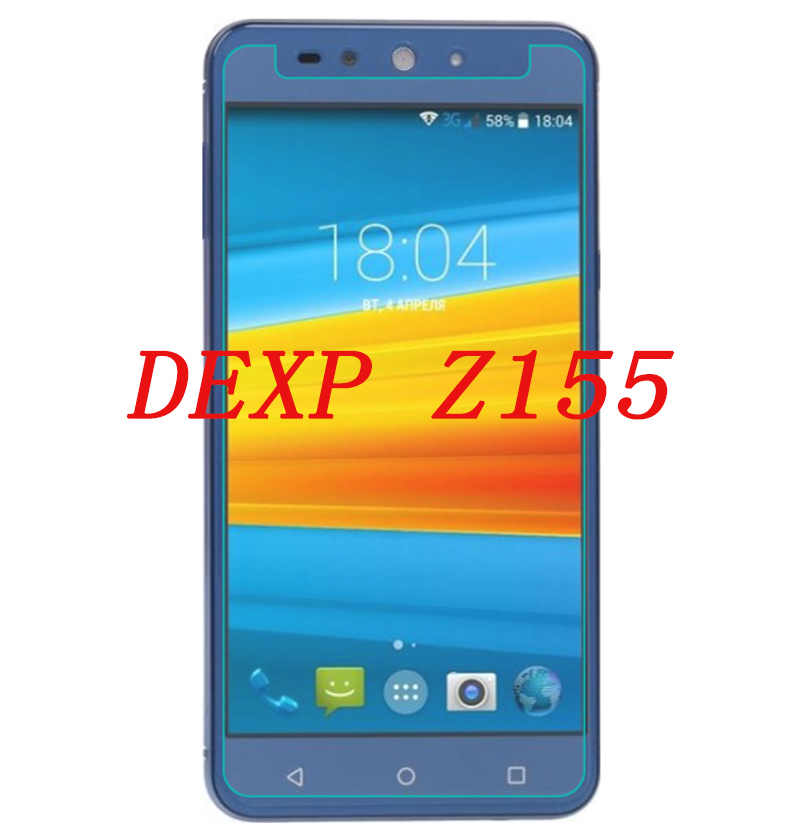 Smartphone Tempered Glass for DEXP Z155 font b Electron b font 9H Explosion proof Protective Film