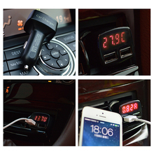 Car Charger 5V 3.1A Quick Charge Dual USB 2 Port LED Display Voltage Current Charger Temperature Monitor Adapter Fast Charging