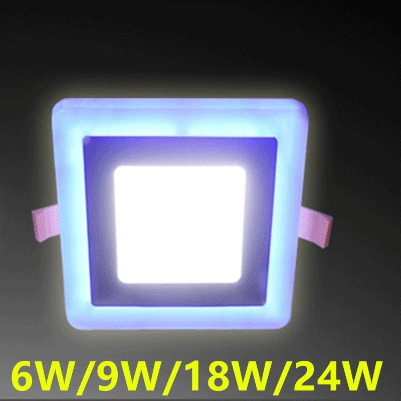 Kerek / négyzetvezérlésű panellámpák, 6w 12w 18w 24w dupla - LED Világítás