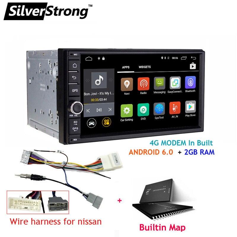 SilverStrong 7 дюймов Android8.1 Универсальный 2 Дин DVD 4G интернет SIM модем автомобиля радио Авто Стерео gps KD7000