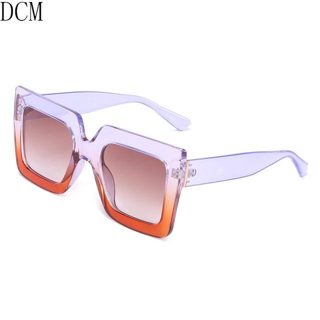 475caf4014 Oversized Sunglasses Women Large Size Sunglasses Men Transparent Frame  Vintage Big Retro Sun Glasses Female Male UV400