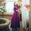 Новое высокое качество взрывов для отдыха элегантная драпировка платья для женщин с кружевами на весну Повседневная рубашка платье