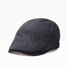 PADEGAO Fashionable men beret casual hat soft comfortable solid color cotton outdoor breathable sun hat can adjust the size fashionable solid color double deck pu cabbie hat for men