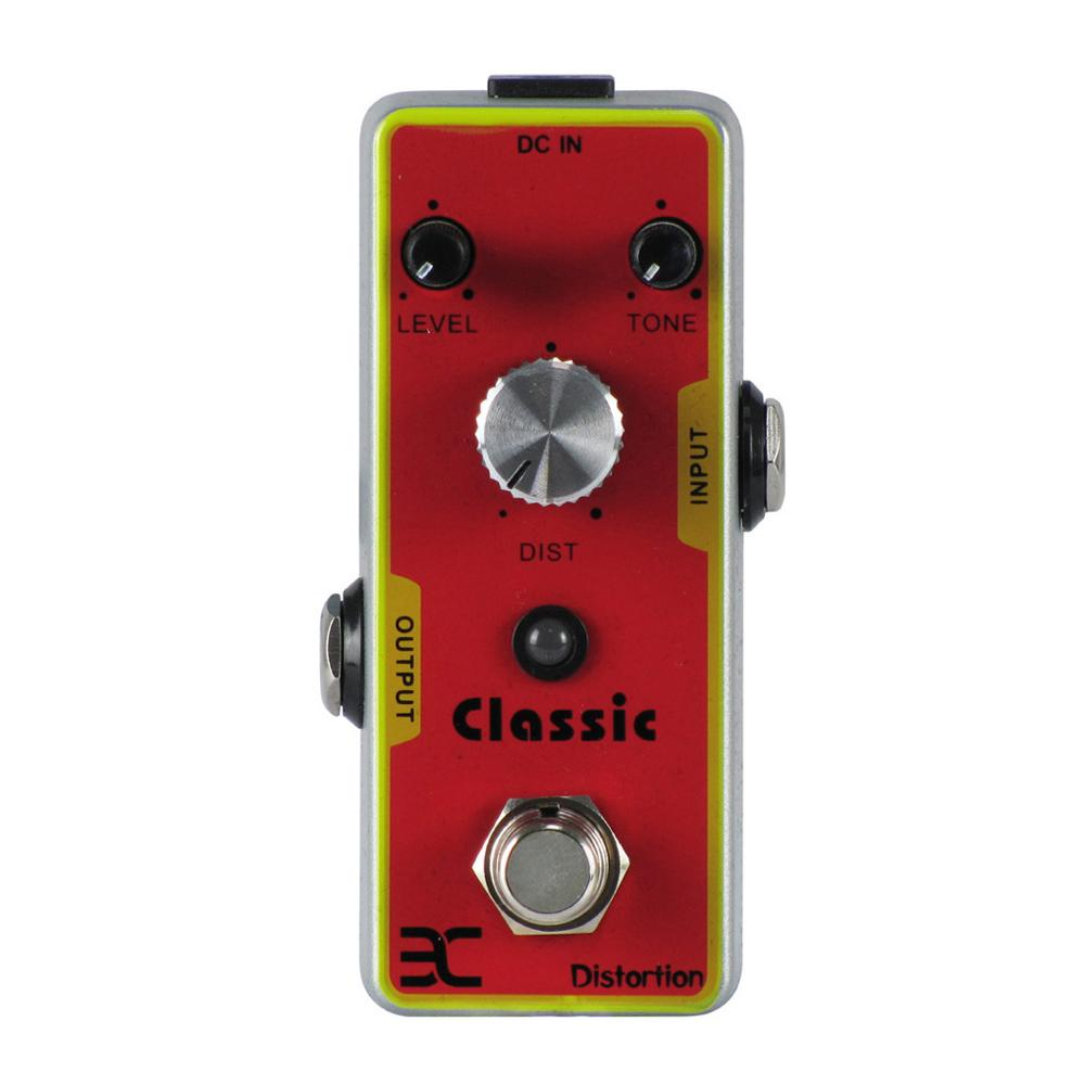 ENO EX TC-15 Mini Single Classic Distortion Guitar Effects Pedal With True Bypass Guitarra Accessory mooer ensemble queen bass chorus effect pedal mini guitar effects true bypass with free connector and footswitch topper