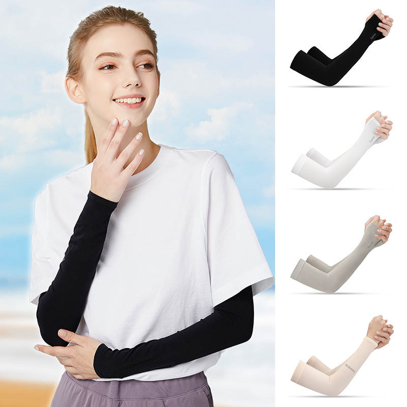 2Pcs Arm Sleeves Sun Protection Arm Cooling Sleeve Warmers UV Protection Sleeves Breathable Quick Dry Running Arm Sleeve