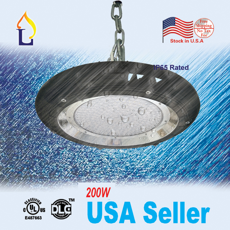 5pcs/lot UFO led high bay light 100W 150W 200W ufo industrial lighting with UL DLC list AC100-277V with 5 years warranty цена
