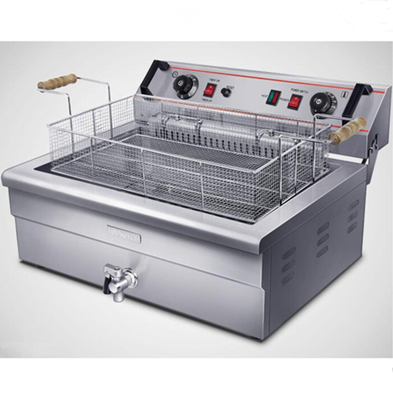 220V/4.8KW 20L Multifunctional Electric Deep Fryer Single Cylinder Machine With Timer Commercial Restaurant Steel цена и фото