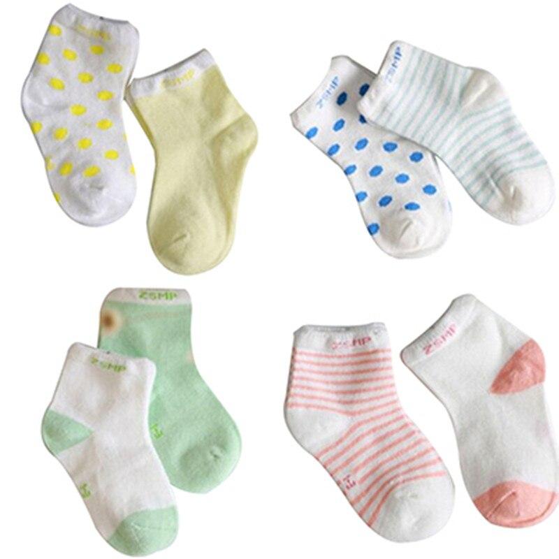 10 peças/lote = 5 Pairs algodão recém-nascido meias bebê meias curtas meninas e meninos