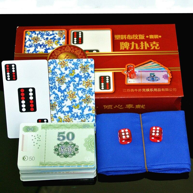 Waterproof Crystal Mahjong Poker Cards Playing Card