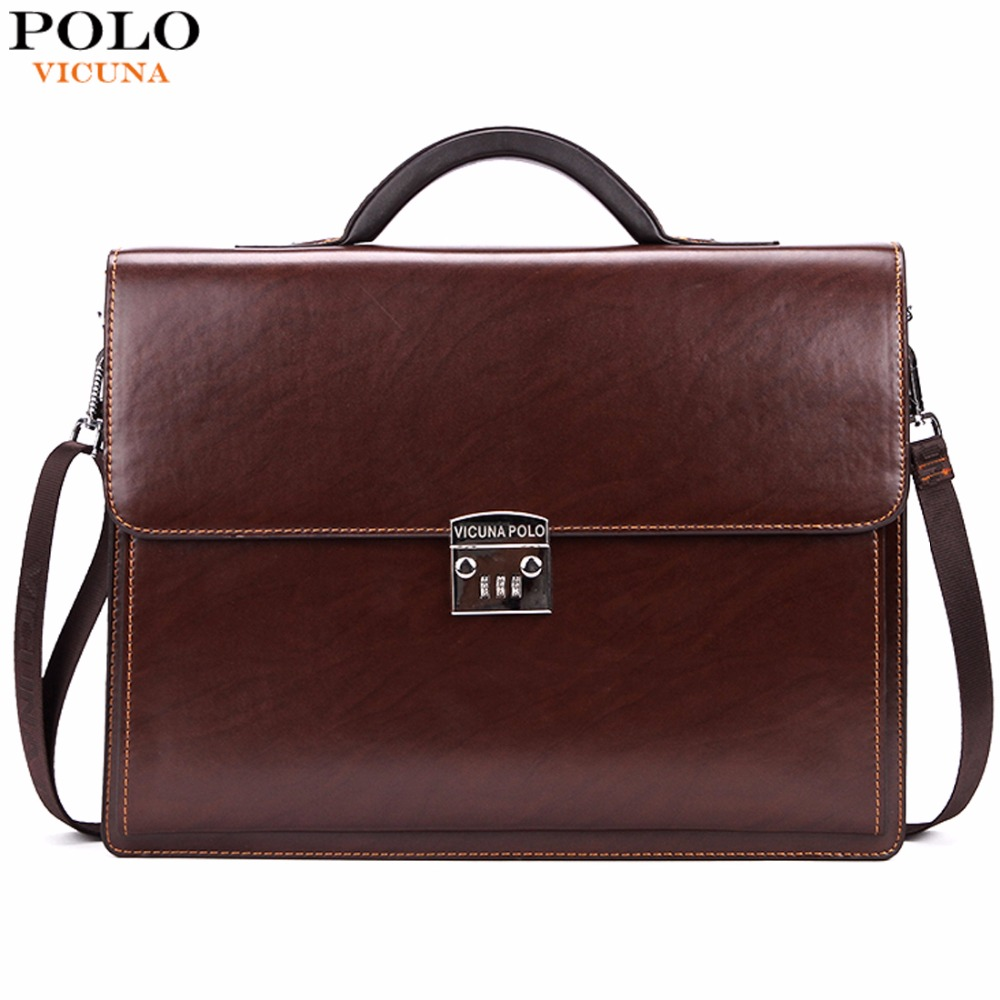 VICUNA POLO Luxury Business Mens Briefcase With Code-Lock High Quality OL Business Man Bag Italy Brand pasta executiva masculino набор для кухни pasta grande 1126804
