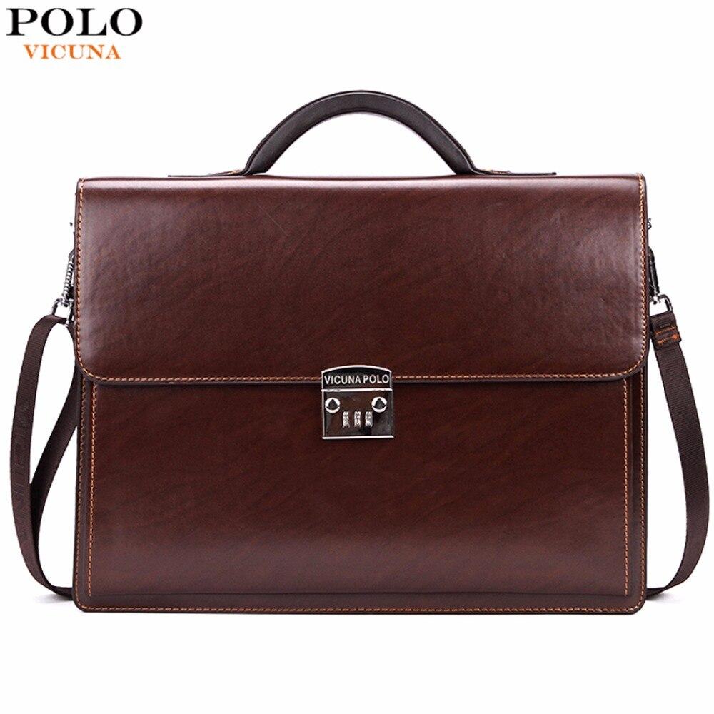 Vicuna Polo negocios de lujo para hombre maletín con código de bloqueo de alta calidad ol negocios hombre Italia marca pasta ejecutiva masculino