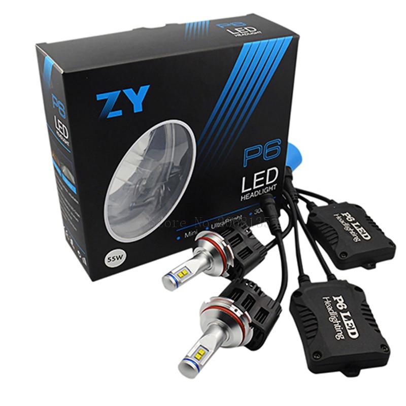 High quality 2016 New ZY P6 110W 10400LM LED Headlight Kit Conversion Canbus Bulbs  9004 9007 3000K 4000K 5000K 6000K