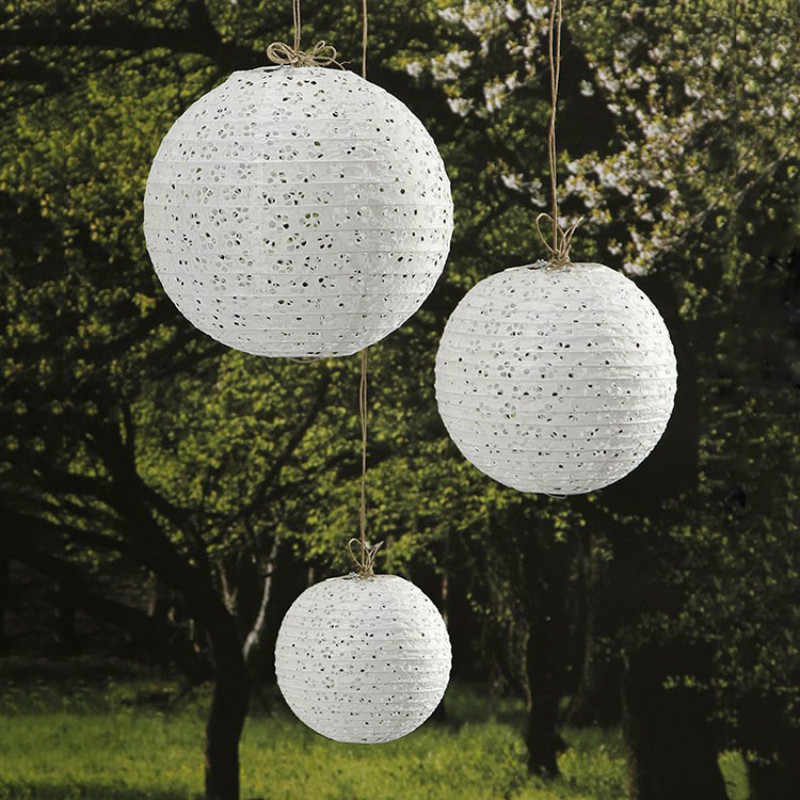 10/15/20/25/30/35/40cm Chinese Hollow Paper Lanterns Round Paper Balls Lamp Wedding Christmas Halloween Party Lampion Decoration