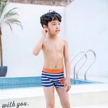 2019 New Swimsuit Kids Baby Boys Swimming Trunks Children Beach Shorts Striped Surfer Swimwear Short Pants Board