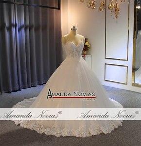 Image 2 - Vestido de noiva cinghie abito da sposa in pizzo con corpetto trasparente sexy del vestito da sposa