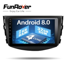 Funrover Android8.0 ips автомобильный dvd-плеер с двумя цифровыми входами для Toyota RAV4 Rav 4 2007 2008 2009 2010 2011 Автомагнитола лента recroeder gps WI-FI BT